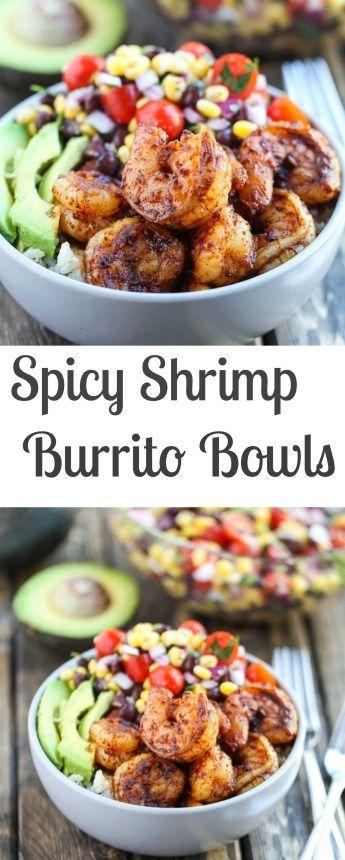 SPICY SHRIMP BURRITO BOWLS