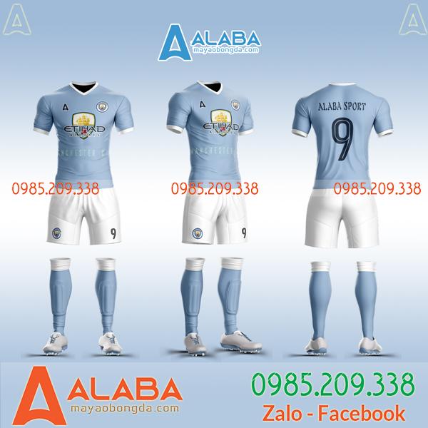 Áo bóng đá clb Man city 2019 2020 thiết kế riêng đẹp