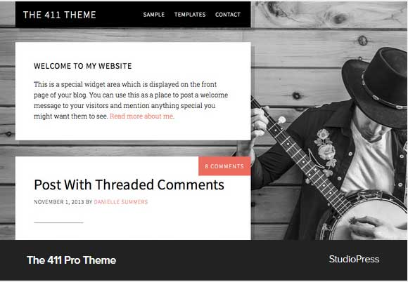 The 411 Pro Theme Award Winning Pro Themes for Wordpress Blog : Award Winning Blog