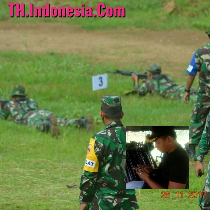 Jajaran Personel Kodim 0718 Pati Berlatih Menembak Guna Menjaga Tugas Pokok NKRI