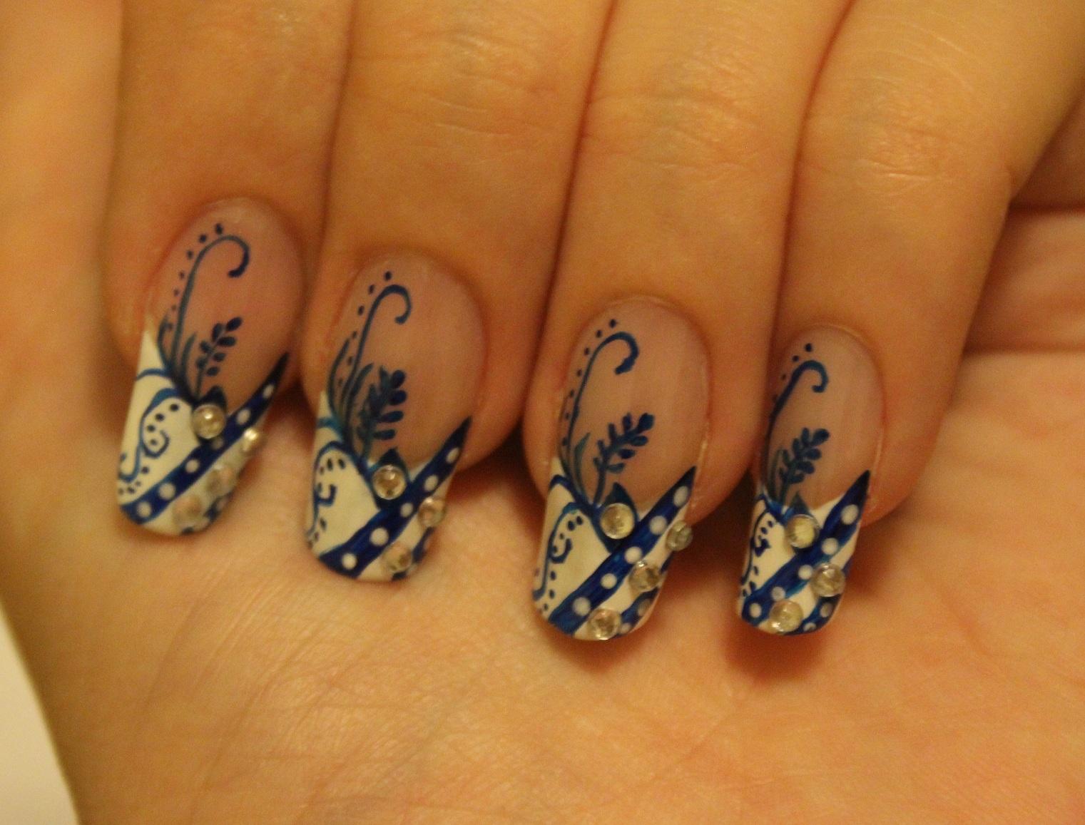 Nail Design Tutorials 2012: Nail Design - Feather Elegance ...