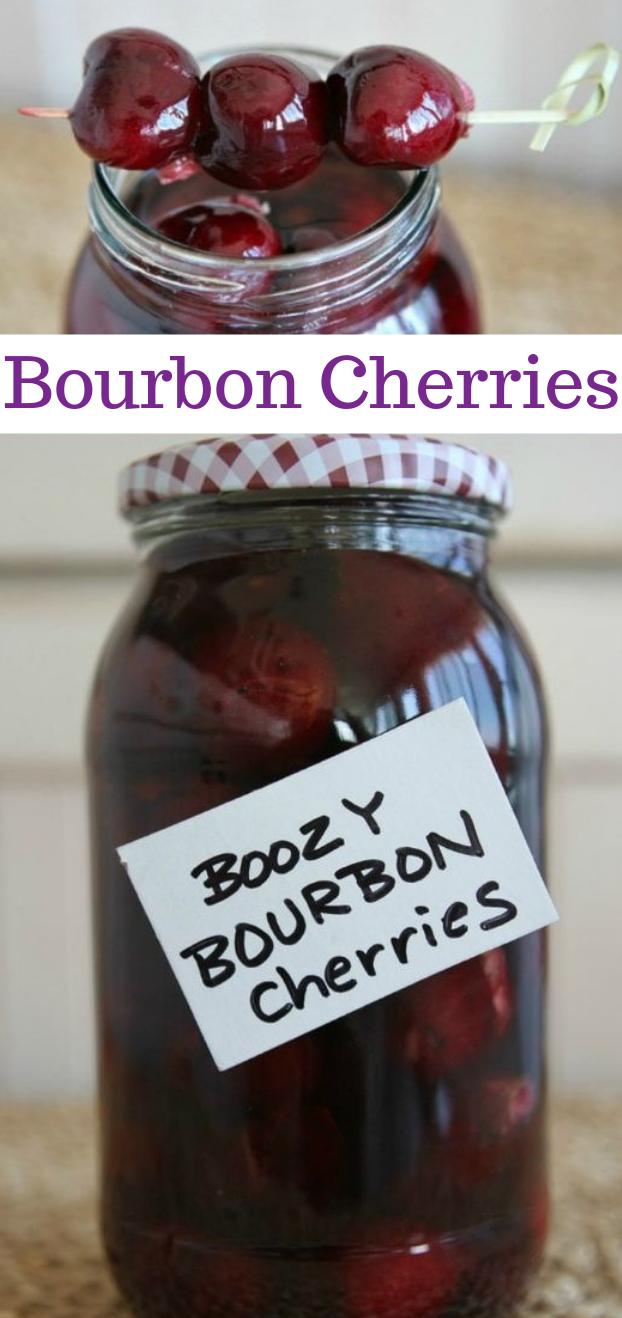 BOOZY BOURBON CHERRIES #cocktail #smoothie