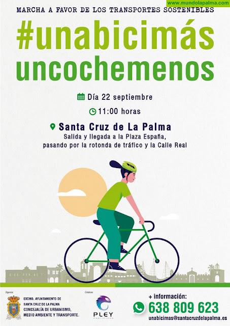 La Concejalía de Medio Ambientey Transporte de Santa Cruz de La Palma organiza una marcha en bicicleta