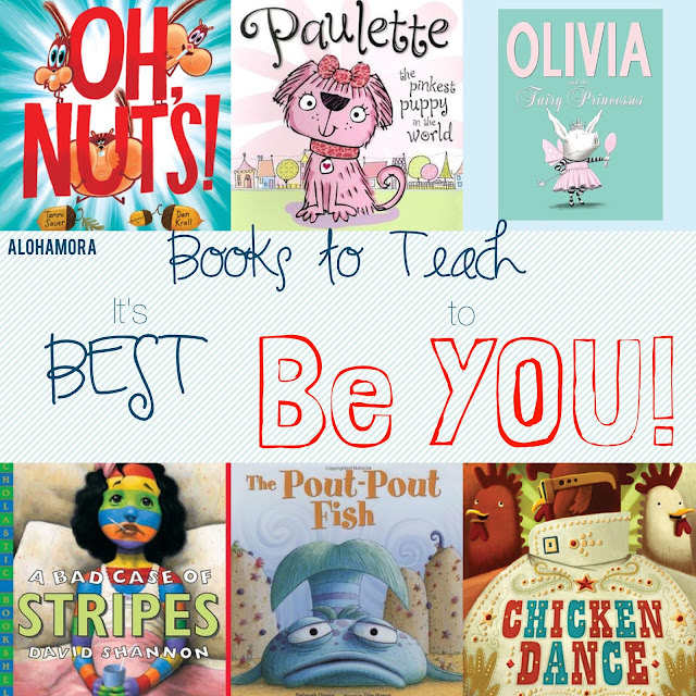A book list for parents, teachers, and/or librarians to teach and read aloud great picture books that teach elementary school kids it is best to be you.  Nothing or no one is better than being yourself.  Good trait for kids to learn.  Alohamora Open a Book http://www.alohamoraopenabook.blogspot.com/ toddler, preschool, kindergarten, 1st, 2nd, 3rd, 4th, 5th, 6th grade funny, humorous, lessons learned, library, classroom, home