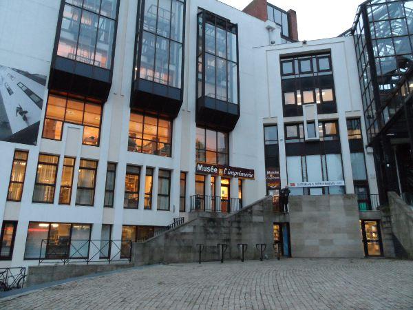 Façade du musée de l'imprimerie à Nantes