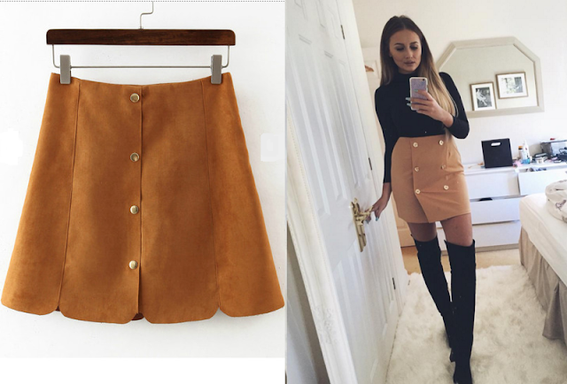 suede skirt outfits