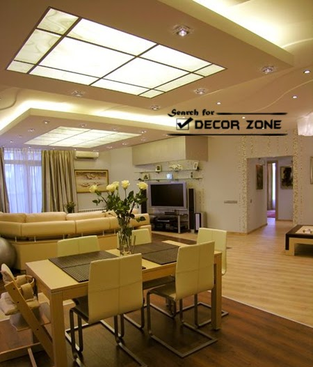 25 original false ceiling designs 2017 integrated - Dining room living room separation ...