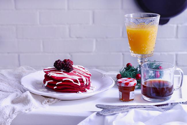 Hot cakes de red Velvet