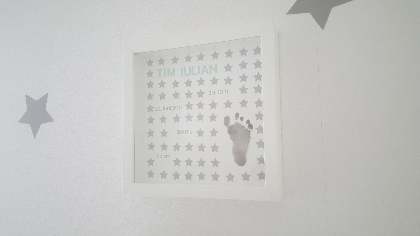 bastelqueen deko f rs babyzimmer bilderrahmen zur geburt. Black Bedroom Furniture Sets. Home Design Ideas