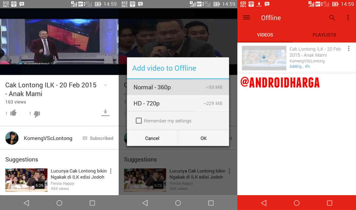 Cara Nonton Video Youtube Offline Tanpa Koneksi Internet Di ASUS