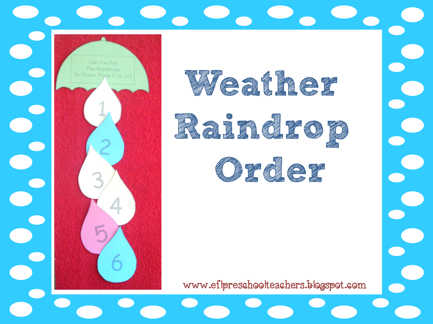 Esl Efl Preschool Teachers Weather Blog