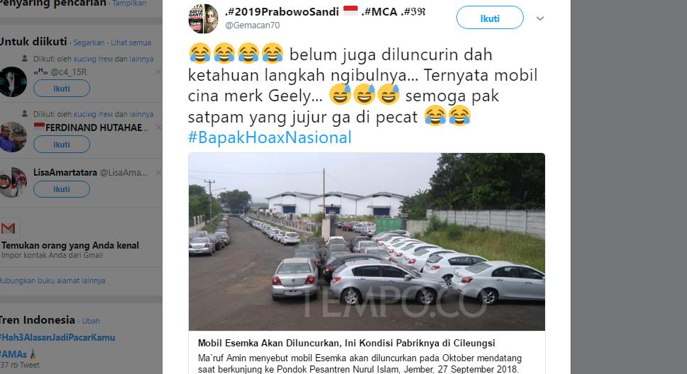 "Ratusan Mobil China ""Geely"" Nongkrong di Pabrik ESEMKA, Warganet Beri Komentar Mak Jleb!"
