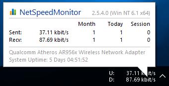 Menampilkan Kecepatan Internet Windows 10