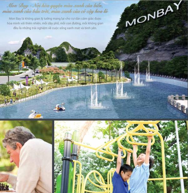 Không gian hồ nước thơ mộng của dự án Mon Bay