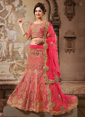 latest designer wedding lehenga choli saree