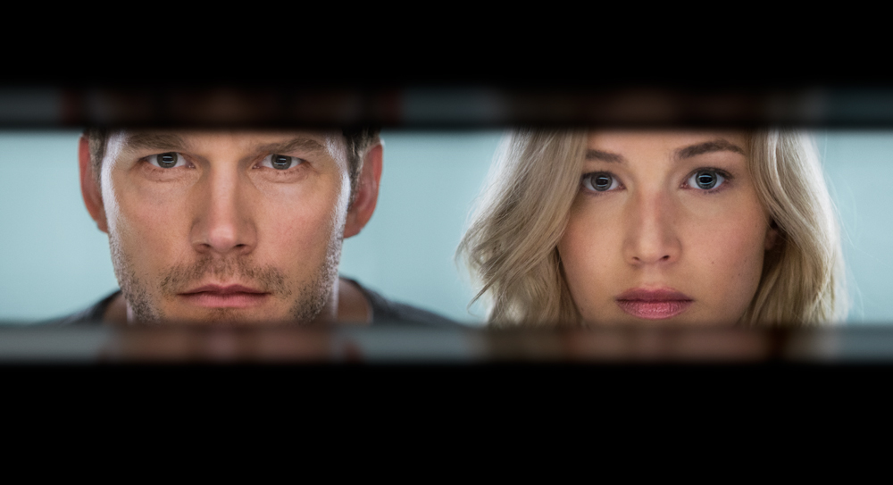 "Cenas inéditas no trailer final da sci-fi ""Passageiros: O Filme"", com Jennifer Lawrence e Chris Pratt"