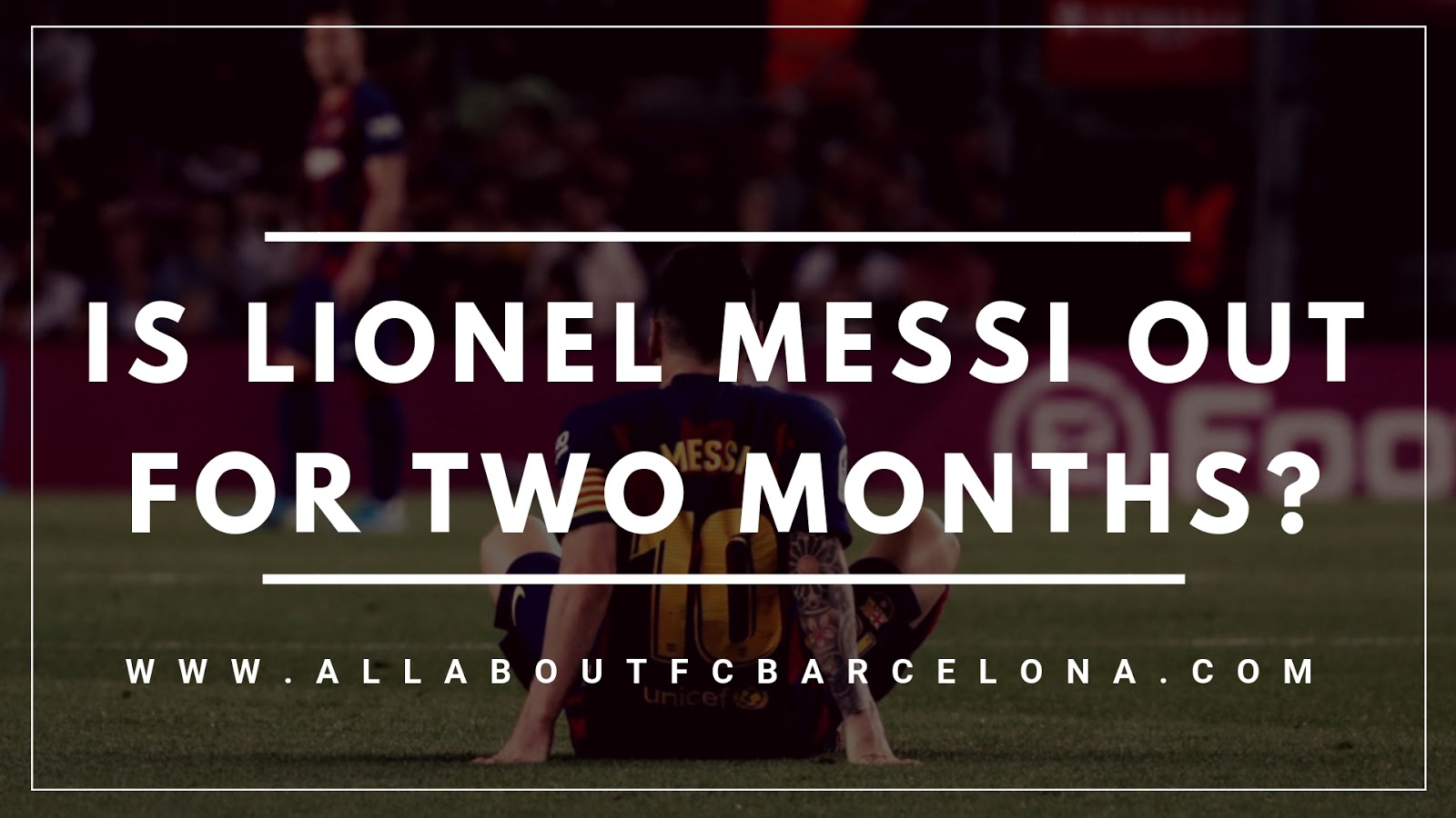 Lionel Messi Rumoured to be Sidelined for Two Months with the Latest Injury? #Barca #Messi