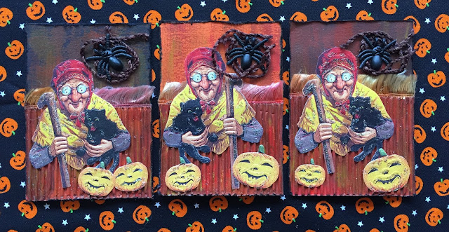 Halloween witch ATC (Artist Trading Card)