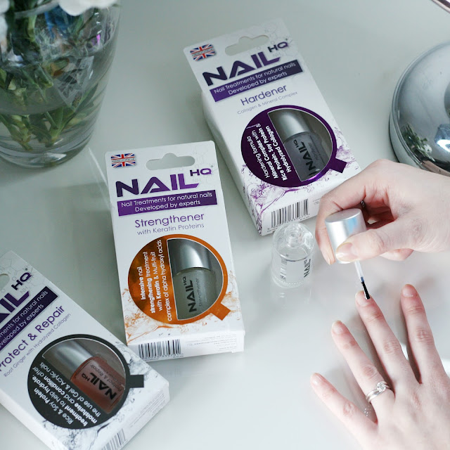 Nail HQ Nail treatments being applied by beauty blogger