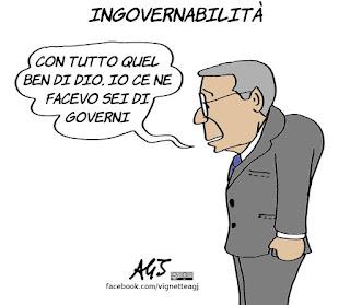 governo, governabilità, consultazioni, maggioranza, andreotti, politica, vignetta, satira
