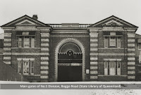 The front gates of the original Male Division, Boggo Road, undated