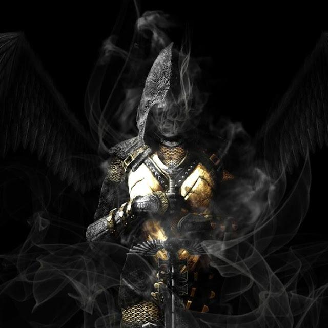 Smoking Angel Soldier Wallpaper Engine