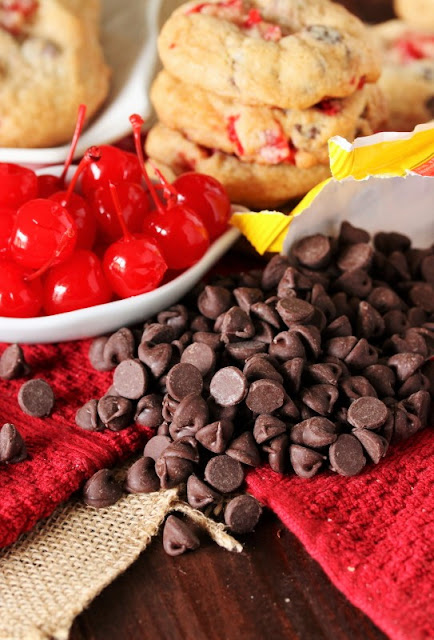 Cherry Chocolate Chip Cookies Ingredients Image