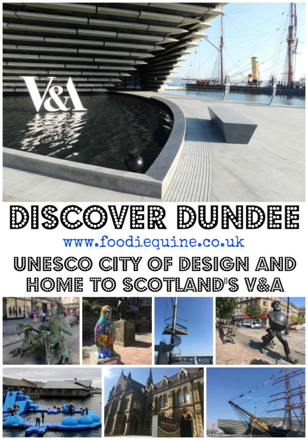 www.foodiequine.co.uk Dundee on the silvery Tay. So much more than Jam, Jute and Journalism, this UNESCO City of Design is just waiting to be rediscovered. Soon to be home to Scotland's first design museum and the only V&A Museum outside of London. A redevloped waterfront area is the gateway to a thriving independent food and bar scene, culture, theatre, museums, parks, street art and more.