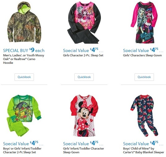 Walmart Black Friday Clothing 2015