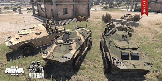 Arma3用Veteran MODのBRDM-2装輪装甲車