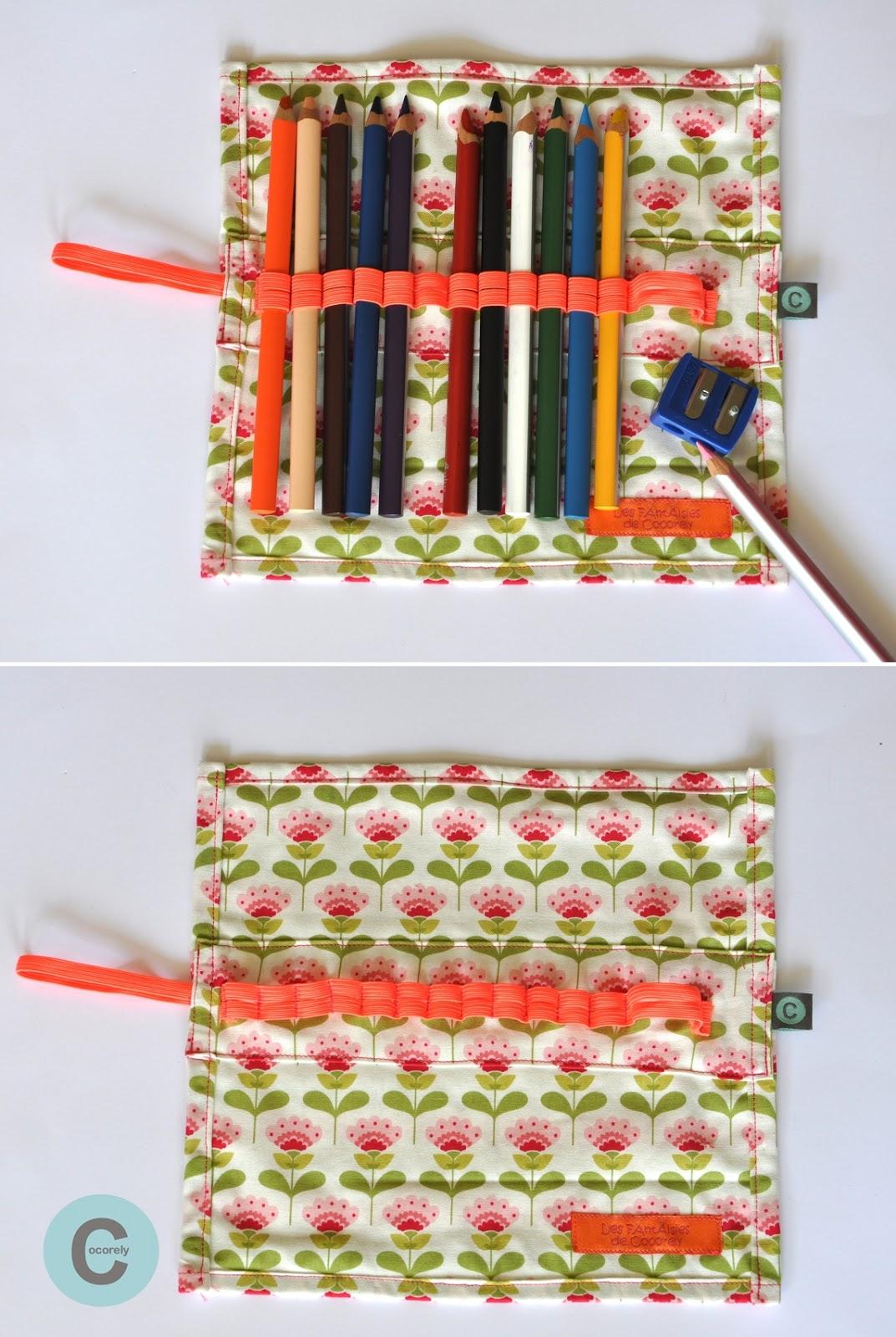 les f nt isies de cocorely trousse de voyage pour crayons de couleurs. Black Bedroom Furniture Sets. Home Design Ideas