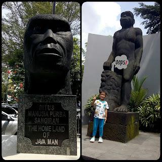 Patung Manusia Purba Museum Sangiran