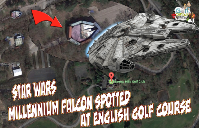 Millennium Falcon spotted on golf course