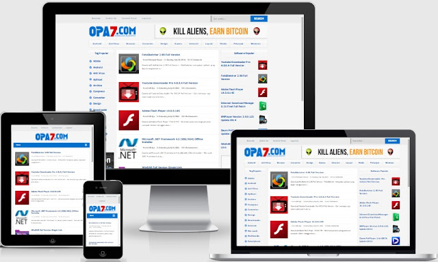 Opa7 Responsif Blogger Template Gratis