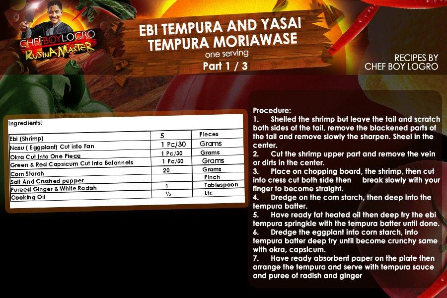 Kusina Master Recipe- Ebi Tempura and Yasai Tempura