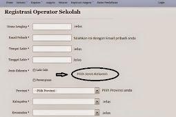 Cara Registrasi Operator Sekolah Terbaru