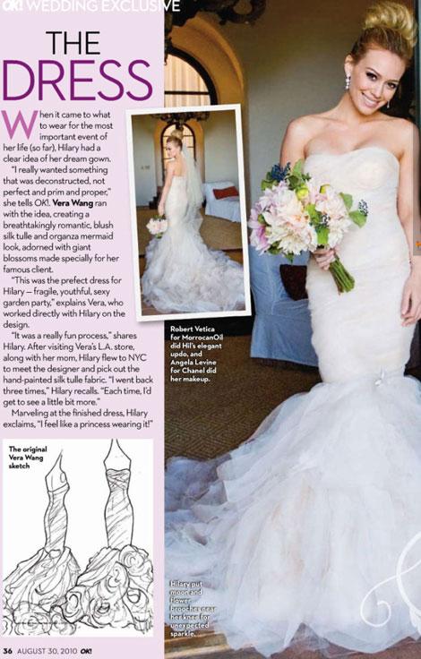 oncedailychic Wednesday Wedding Stalker Hillary Duff  that hockey guy she married