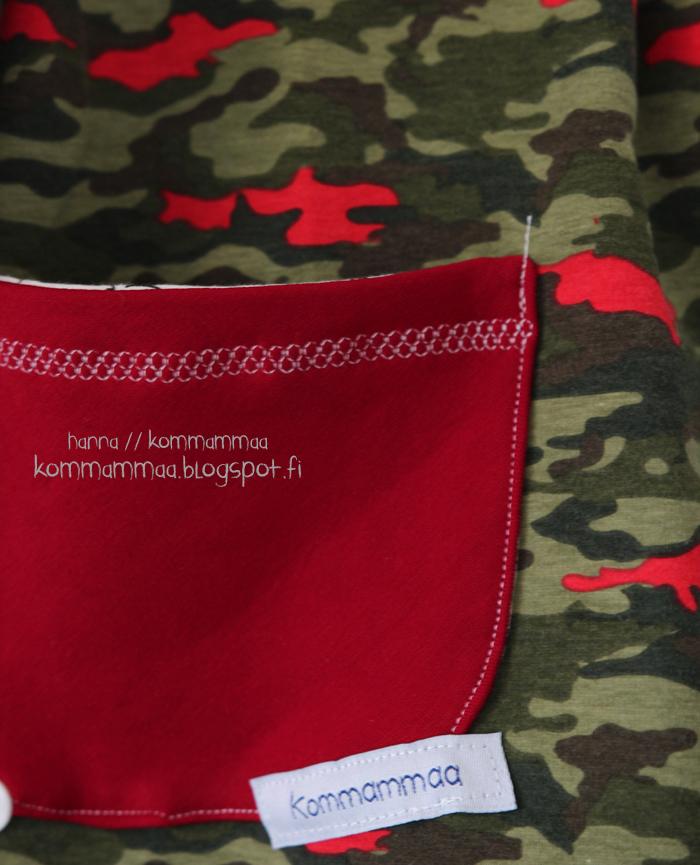 ob ottobre 4/2015 busy forest nosh raitaresori mekko tunika taskulla 86 maastokuvio army