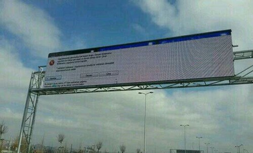 highway sign windows operating system fail