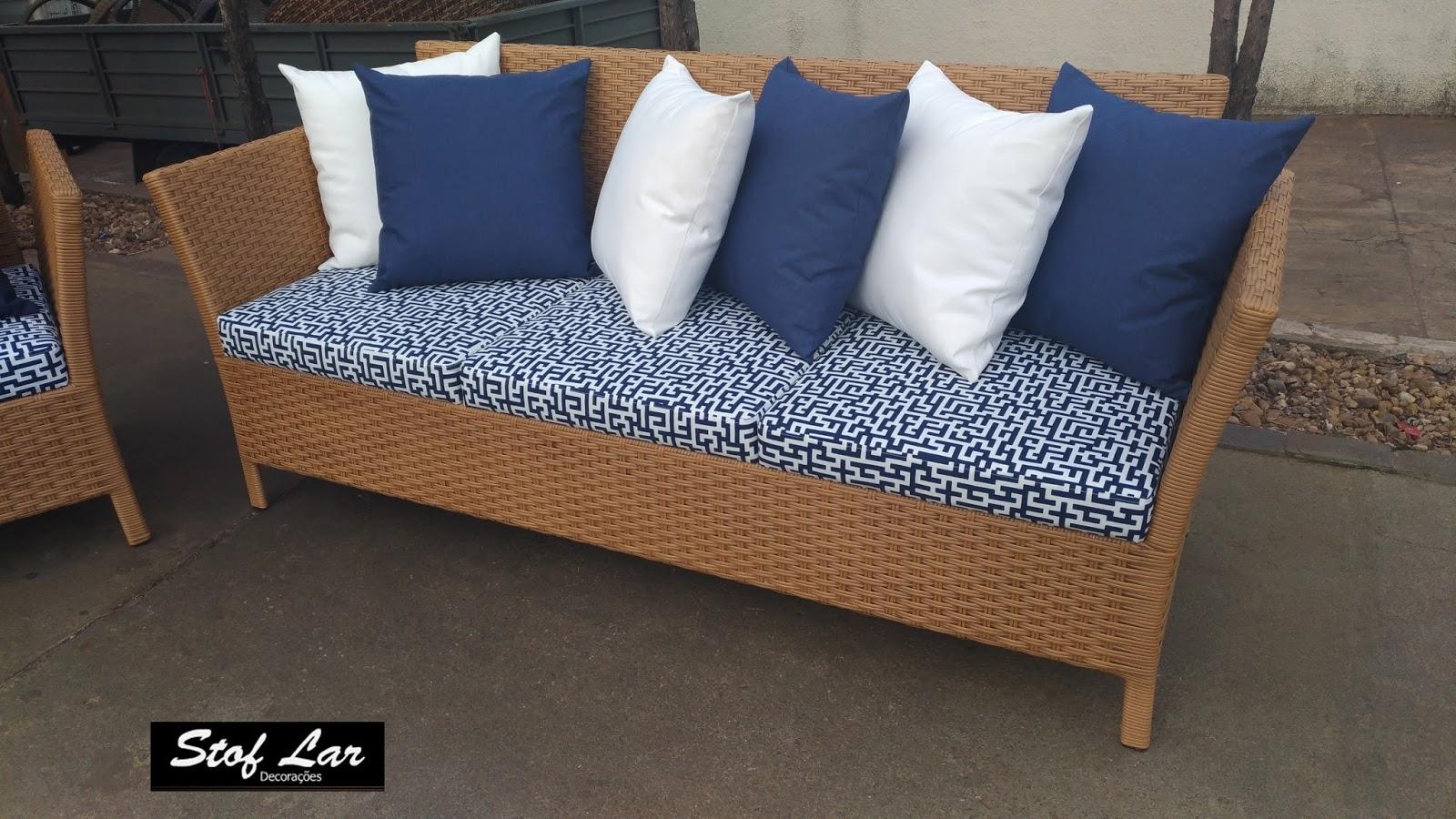 Stof lar decora es m veis em madeira de demoli o - Sofa para tres ...