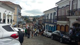 Rua comercial em Ouro Preto