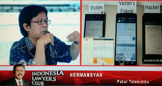 (VIDEO) Sesi Hermansyah Ketika Membongkar Chat Palsu HRS-Firza di ILC TVOne