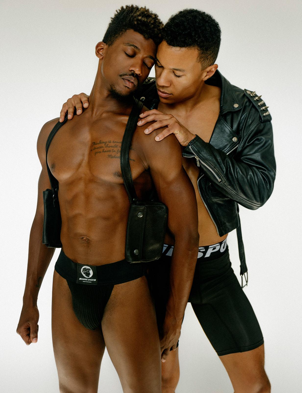 Gay black men having bareback sex