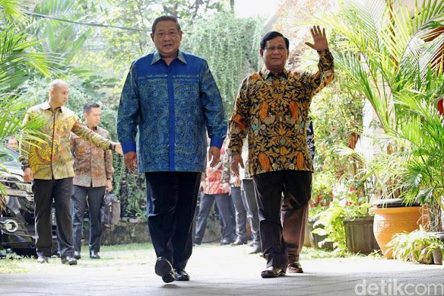 Deal! Prabowo-SBY Sepakat Ikat Koalisi Gerindra-PD
