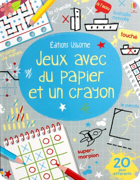 Jeux avec du papier et un crayon - éditions Usborne