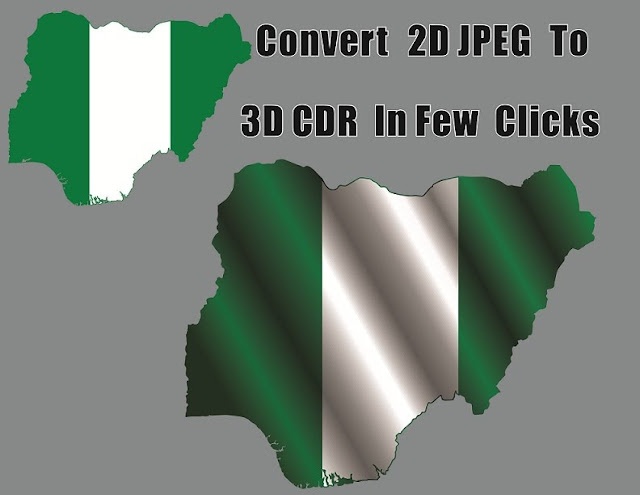 How to Convert 2D JPEG File to 3D CDR File In Few Clicks