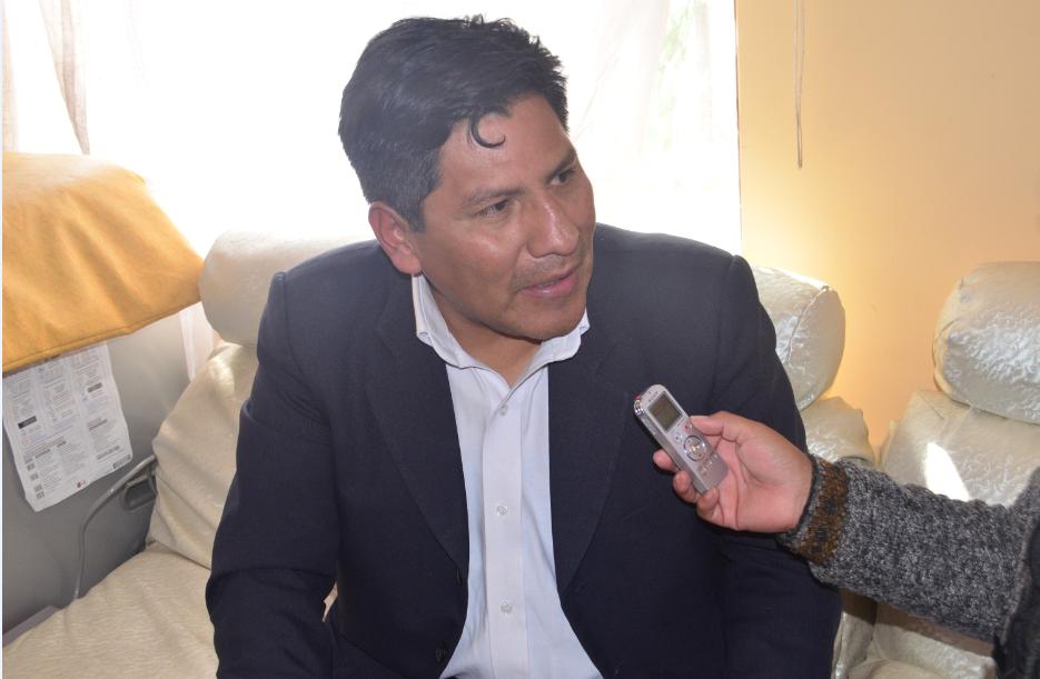 El exfiscal Anticorrupción de El Alto, Rime Choquehuanca / ALBERTO MEDRANO - MV