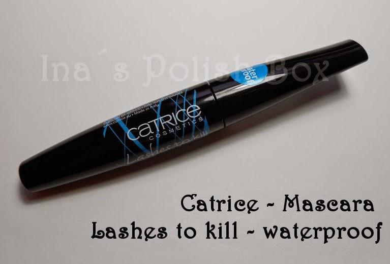 mascara blau wasserfest