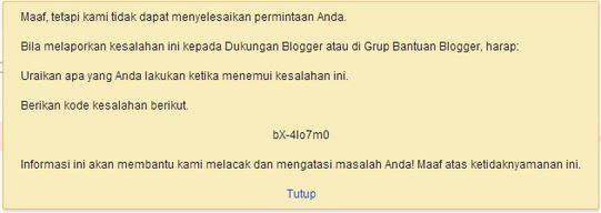 Tidak Bisa Edit dan Save HTML Blogspot