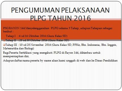 Cek Info Pengumuman Terbaru dan Tahapan Jadwal PLPG 2016 Rayon UMM